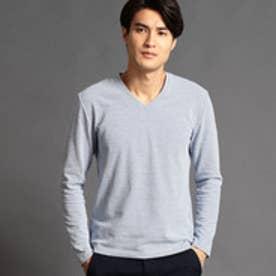 ハイダウェイ HIDEAWAYS ジャカードVネックTシャツ (67ネイビー)