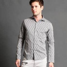 ハイダウェイ HIDEAWAYS ジャカードシャツ (09ホワイト)