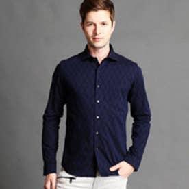 ハイダウェイ HIDEAWAYS ジャカードシャツ (67ネイビー)
