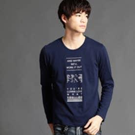 ハイダウェイ HIDEAWAYS ロゴプリントTシャツ (67ネイビー)