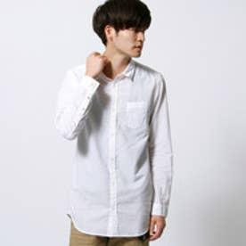 ハイダウェイ HIDEAWAYS ロング丈シャツ (09ホワイト)