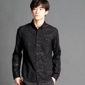 ハイダウェイ HIDEAWAYS 迷彩柄ボタンダウンシャツ (49ブラック)