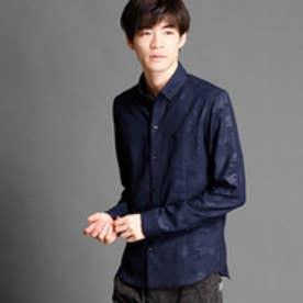 ハイダウェイ HIDEAWAYS 迷彩柄ボタンダウンシャツ (67ネイビー)