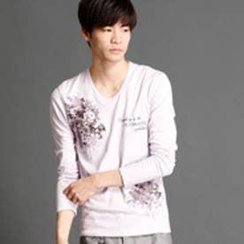 ハイダウェイ HIDEAWAYS モチーフプリントTシャツ (88ラベンダー)