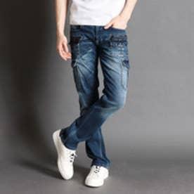 ハイダウェイ HIDEAWAYS ポケットつきカーゴパンツ (60ブルー)