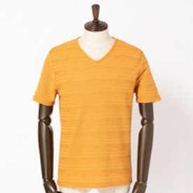 ハイダウェイ HIDEAWAYS タックボーダーVネックTシャツ (10オレンジ)