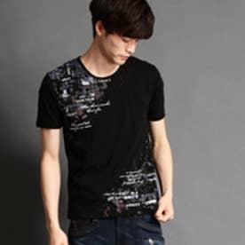 ハイダウェイ HIDEAWAYS タイルフォト柄Tシャツ (49ブラック)