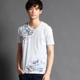 ハイダウェイ HIDEAWAYS タイルフォト柄Tシャツ (64サックス)
