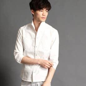 ハイダウェイ HIDEAWAYS イタリアンカラーシャンブレーツイルシャツ (09ホワイト)