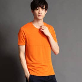 HIDEAWAYS ブロッキングクルーネックTシャツ (10オレンジ)