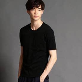 HIDEAWAYS ブロッキングクルーネックTシャツ (49ブラック)