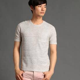 HIDEAWAYS リネンクルーネックTシャツ (19ライトグレー)