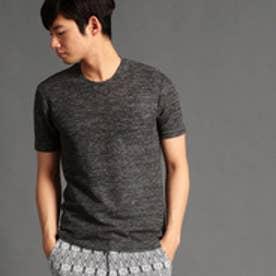 HIDEAWAYS リネンクルーネックTシャツ (39チャコールグレー)