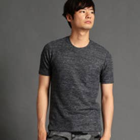 HIDEAWAYS リネンクルーネックTシャツ (67ネイビー)