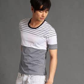 HIDEAWAYS マルチボーダー柄クルーネックTシャツ (91その他2)