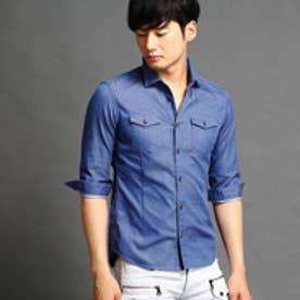 ハイダウェイ HIDEAWAYS シャンブレーシャツ (60ブルー)
