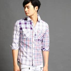 ハイダウェイ HIDEAWAYS クレイジーパターンシャツ (09ホワイト)