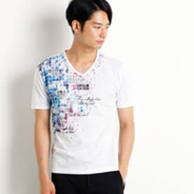 ハイダウェイ HIDEAWAYS タイルフォトプリントTシャツ (09ホワイト)