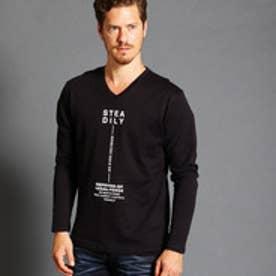 ハイダウェイ HIDEAWAYS フロントロゴVネックTシャツ (49ブラック)