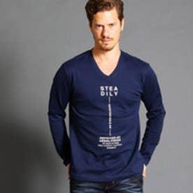 ハイダウェイ HIDEAWAYS フロントロゴVネックTシャツ (67ネイビー)