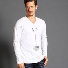 ハイダウェイ HIDEAWAYS フロントロゴVネックTシャツ (09ホワイト)