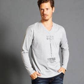 ハイダウェイ HIDEAWAYS フロントロゴVネックTシャツ (29グレー)