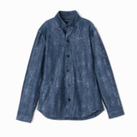 ハイダウェイ HIDEAWAYS ストレッチボタンダウンシャツ (60ブルー)