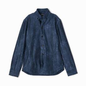ハイダウェイ HIDEAWAYS ストレッチボタンダウンシャツ (67ネイビー)
