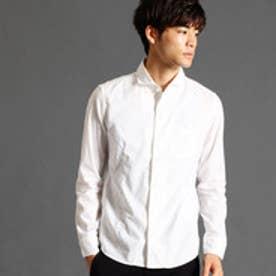 ハイダウェイ HIDEAWAYS ホリゾンタルカラーシャツ (09ホワイト)