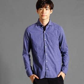ハイダウェイ HIDEAWAYS ホリゾンタルカラーシャツ (67ネイビー)