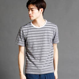 ムッシュ ニコル MONSIEUR NICOLE マルチボーダー柄Tシャツ (09ホワイト)