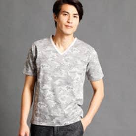 ムッシュ ニコル MONSIEUR NICOLE カモフラジャカードVネックTシャツ (09ホワイト)