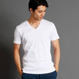 ムッシュ ニコル MONSIEUR NICOLE 半袖VネックTシャツ (09ホワイト)