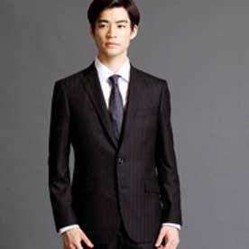 ムッシュ ニコル MONSIEUR NICOLE シャドーヘリンボーン柄スーツ (49ブラック)