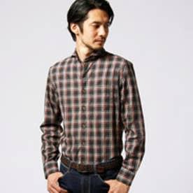 ムッシュ ニコル MONSIEUR NICOLE ネルチェックヘリンボンシャツ (08ピンク)