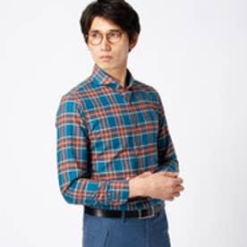 ムッシュ ニコル MONSIEUR NICOLE タータンチェックシャツ (60ブルー)
