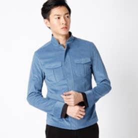 ムッシュ ニコル MONSIEUR NICOLE ストレッチコールスタンドカラーシャツ (66ブルーグレー)
