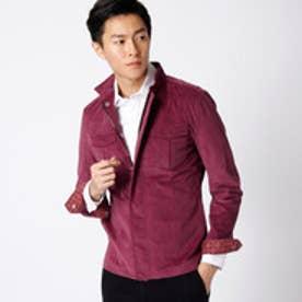 ムッシュ ニコル MONSIEUR NICOLE ストレッチコールスタンドカラーシャツ (80パープル)