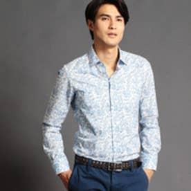 ムッシュ ニコル MONSIEUR NICOLE フラワープリントシャツ (60ブルー)