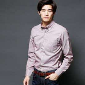 ムッシュ ニコル MONSIEUR NICOLE マイクロ長袖ボタンダウンシャツ (07ボルドー)