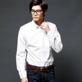 ムッシュ ニコル MONSIEUR NICOLE マイクロ長袖ボタンダウンシャツ (09ホワイト)