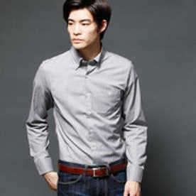 ムッシュ ニコル MONSIEUR NICOLE マイクロ長袖ボタンダウンシャツ (49ブラック)