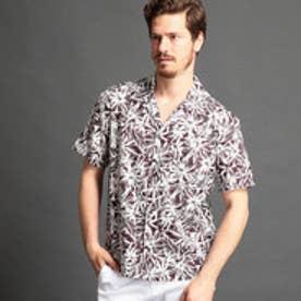 ムッシュ ニコル MONSIEUR NICOLE ボタニカル柄オープンカラーシャツ (07ボルドー)
