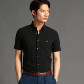 MONSIEUR NICOLE シアサッカー素材ボタンダウンシャツ (49ブラック)