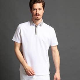 MONSIEUR NICOLE 襟切り替えポロシャツ (09ホワイト)
