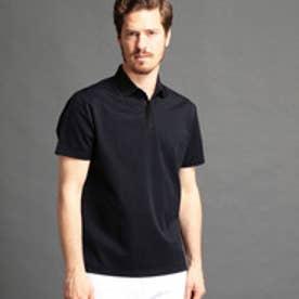 MONSIEUR NICOLE 襟切り替えポロシャツ (67ネイビー)