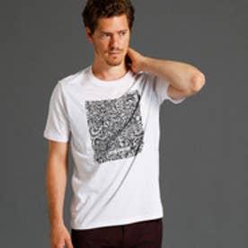 ムッシュ ニコル MONSIEUR NICOLE グラフィックプリント半袖クルーネックTシャツ (09ホワイト)