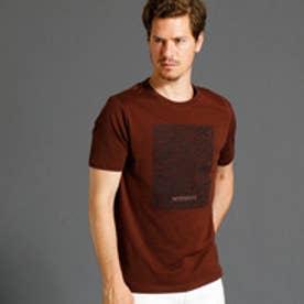 ムッシュ ニコル MONSIEUR NICOLE グラフィックプリント半袖クルーネックTシャツ (13ブラウン)