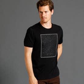 ムッシュ ニコル MONSIEUR NICOLE グラフィックプリント半袖クルーネックTシャツ (49ブラック)