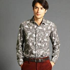 ムッシュ ニコル MONSIEUR NICOLE 【ex/tra】フラワー&ハンドトゥースシャツ (46カーキ)